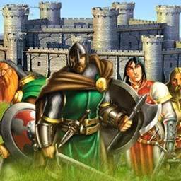 Defender of the Crown - Heroes Live Forever - Build armies and fortify your castles as you wage war against opponents. - logo