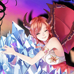 Demon's Crystals - Demon's Crystals is a frenetic twin stick shooter where you guide the Urican demons through countless hazards in order to restore peace to the world. - logo