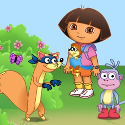 Dora the Explorer - Swiper's Big Adventure - Help Dora and Swiper get a baby fox home in Swiper's Big Adventure! - logo