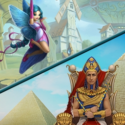 Fairies and Pharaohs Bundle - Obtén 2 juegos exitosos de match 3 en Fairies and Pharaohs Bundle - Cradle of Egypt & 4 Elements II. - logo