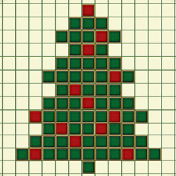 Fill And Cross Christmas Riddles - In Fill And Cross Christmas Riddles, Santa has 120 griddler puzzles for you to solve! - logo