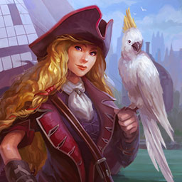 Fill And Cross Pirate Riddles 2 - Solve 120 new griddler (nonogram) puzzles to help Britain take control of the high seas in Fill And Cross Pirate Riddles 2. - logo