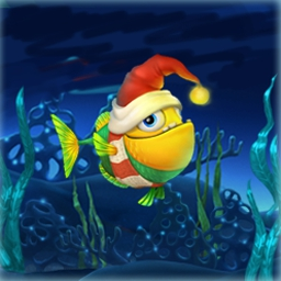 Fishdom - Frosty Splash - Complete match 3 levels to build your winter tank in Fishdom Frosty Splash! - logo