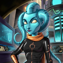 Galaxy Quest - Save your partner in Galaxy Quest, an intergalatic match-3 mission! Use the very latest power-ups as you rocket from planet to planet. - logo