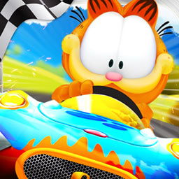 Garfield Kart - Join the famous cat and his friends in a crazy race! Will you finish first in Garfield Kart? It's a free-for-all out there! - logo