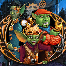 Gizmos: Riddle Of The Universe - Help these three friends decipher a mysterious message in the griddlers puzzle game Gizmos: Riddle Of The Universe. - logo