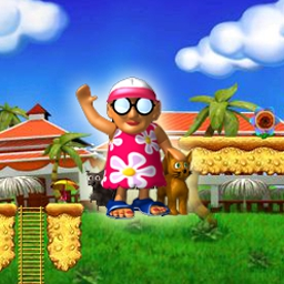 Granny in Paradise - Help this groovy Granny rescue her kitties in Granny in Paradise! - logo