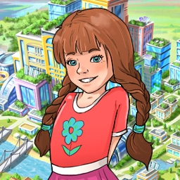 Green City 2 - Go green with Green City 2! Transform eco-disaster areas by building greenhouses and eco-plants! It's city planning at its greenest! - logo