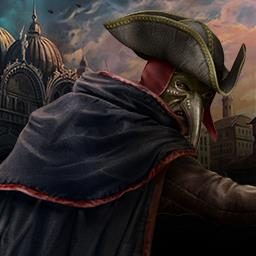 Grim Facade: Mystery of Venice - Find two missing women before it's too late in the adventure game Grim Facade: Mystery of Venice! - logo