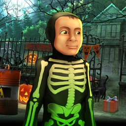 Halloween: Trick or Treat - Get ready for spooky locations and creepy puzzles as you work your way through a haunted house. Play Halloween: Trick or Treat...if you dare! - logo