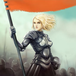 Heroes from the Past: Joan of Arc - ¡Únete a Juana de Arco en su épico viaje con el juego de match 3 Heroes from the Past: Joan of Arc ahora! - logo