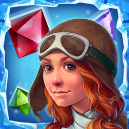 Ice Crystal Adventure - Can you help poor Alelia and her cat find their way home? Crush the icy crystals in 100 diverse levels. - logo