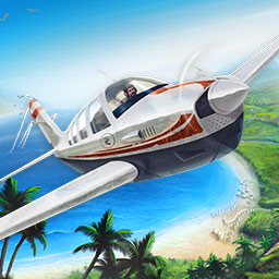 Island Flight Simulator - Start your approach! Fly over paradise as a freight pilot in Island Flight Simulator! - logo