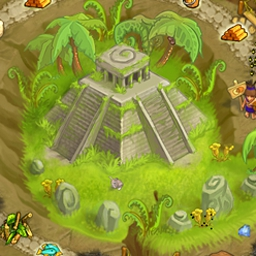 Island Tribe 2 Online - Help the tribe find a new home and make it through to the magic Altar of Wishes! Play Island Tribe 2 Online now for free! - logo