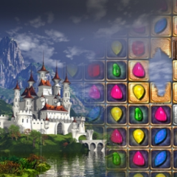 Jewel Match 2 - Enter a match-3 wonderland and build a magical kingdom of jewels! - logo
