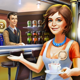 Jo's Dream Organic Coffee 2 - This time management game will have you hopping! Open a coffee shop and win the grand prize at the Coffee Festival in Jo's Dream: Organic Coffee 2! - logo