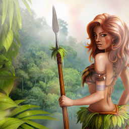 Jungle Wars - Train your army, build a village, collect resources and form alliances in Jungle Wars, an online strategy game. - logo