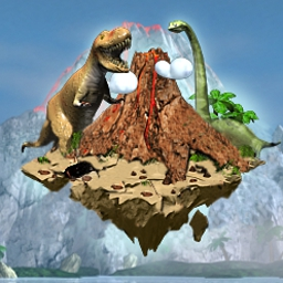 Jurassic Realm - Explore prehistoric land in a dynamic dinosaur-themed puzzle adventure. - logo