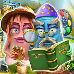 Laruaville 3 - In the match 3 game Laruaville 3, you'll build a town for some friendly ghosts. - logo