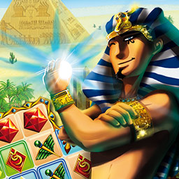 Legend of Egypt: Jewels of the Gods - Ayuda al faraón Thabit a construir una magnífica ciudad para ganarse el favor de los dioses y salvar a su esposa en el juego de match 3 Legend of Egypt: Jewels of the Gods. - logo