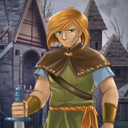 Legend of Gallant - It's up to you to end The Warlock's evil rampage in Legend of Gallant, a Match 3 game. - logo