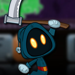Letter Quest - Grimm's Journey - Two adorable grim reapers need your help in this fun word game! Spell words to attack in Letter Quest - Grimm's Journey! - logo