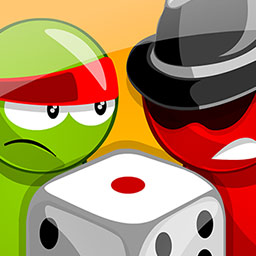 Ludo Master - Ludo Master (also known as Parcheesi) is the classic board game for 2 to 4 players. Will you make it to the end in time? - logo