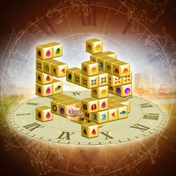 Mahjongg Dimensions Deluxe: Tiles in Time - Precious artifacts throughout history are disappearing. Restore the fabric of time in Mahjongg Dimensions Deluxe: Tiles in Time! - logo