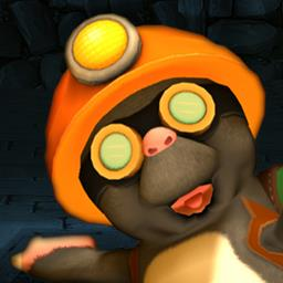 Miko Mole - Help Miko Mole make his way through 240 puzzle-y levels in this action game. - logo