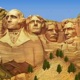Monument Builders: Mount Rushmore - In Monument Builders: Mount Rushmore, you'll travel back in time to build a famous landmark! - logo