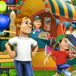 My Fantastic Park - Plan, design and run your own amusement park in this online simulation game. My Fantastic Park is your ticket to fun! - logo