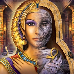 Nancy Drew: Tomb of the Lost Queen - Unearth sinister secrets in an ancient Egyptian tomb! Play Nancy Drew: Tomb of the Lost Queen today! - logo
