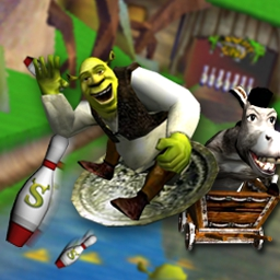 Shrek 2: Ogre Bowler - Relive those magical movie moments in the swamp lanes! - logo
