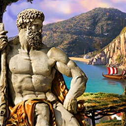 The Path of Hercules - Become Hercules, the great hero! Save ancient Greece with a unique mix of match 3 and hidden object gameplay in The Path of Hercules. - logo