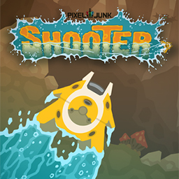 PixelJunk Shooter - Pilot your subterranean spacecraft through cavernous environments in PixelJunk™ Shooter.  It's up to you to rescue the scientists! - logo