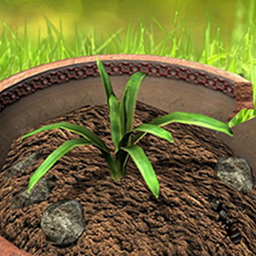"Plant Panic - Protect these blooms in Plant Panic, an arcade ""flower defense"" game! - logo"