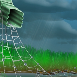 Rainy Day Spider Solitaire on Pogo - Save a friendly littlespiderfrom the pouring rain inRainy Day Spider Solitaire! Play it free online at EA's Pogo. - logo
