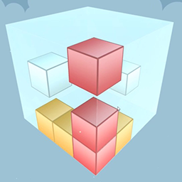 """Puzzle Cube - This puzzle game has a """"Easy to Learn - Hard to Master""""-concept to it. Each level has a number of movable boxes, with different colors, within the pla - logo"""