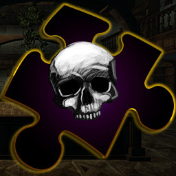 Puzzles At Mystery Manor - Solve jigsaw puzzles related to Jack Jasper's 40 grisly murders in Puzzles At Mystery Manor. - logo