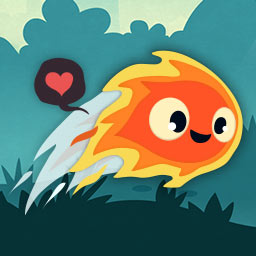 Pyro Jump - Jump for Pyro Jump! The little flame, Pyro, will do anything to prove his love in this fiery platformer. - logo