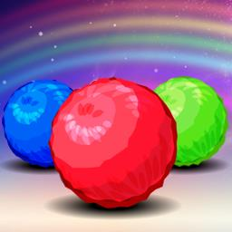 Rainbow Lines - Move the fuzz balls on the board and match 4 to remove them in Rainbow Lines, a fun puzzle game! - logo
