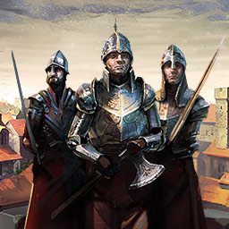 Realm of Empires: Warlords Rising - Grow your empire, recruit soldiers and conquer the realm in the online strategy game Realm of Empires: Warlords Rising. - logo