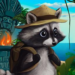 Ricky Raccoon - Join Ricky on his first treasure hunt in the match 3 game Ricky Raccoon! - logo