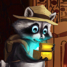 Ricky Raccoon 2: Adventures in Egypt - Just like in the 1st part our adventurers will have to master challenging Match 3 missions to make it all the way to the hidden treasures. - logo