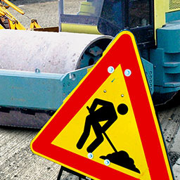 Roadworks Simulator - You are responsible for the streets and roads in your city. - logo
