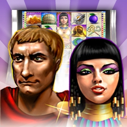 Rome and Egypt - Cleopatra and Julius Caesar have returned to your PC! Play the Rome and Egypt slots casino game today! - logo