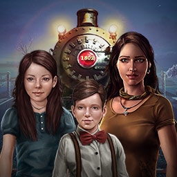 Runaway Express Mystery - The ghosts on this historic train need your help in the adventure game Runaway Express Mystery! - logo