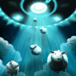 Running Sheep - Direct the scared sheep toward a teleporter by setting arrows along their path. Help them overcome obstacles, boss aliens, and more in Running Sheep! - logo