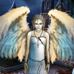 Sacra Terra: Angelic Night - Play Sacra Terra: Angelic Night, a challenging Hidden Object game!  Explore a decaying hospital, a medieval abbey, and other eerie locations. - logo