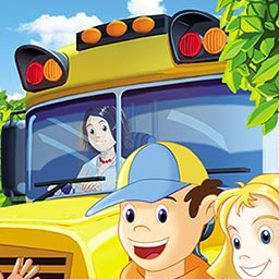 School Bus Fun - Taking your daughter to school sounds dead easy. - logo